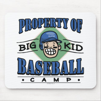 Big Kid Baseball Camp Blue Helmet Mouse Pad