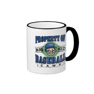 Big Kid Baseball Camp Blue Helmet Mug