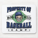 Big Kid Baseball Camp Mouse Pad