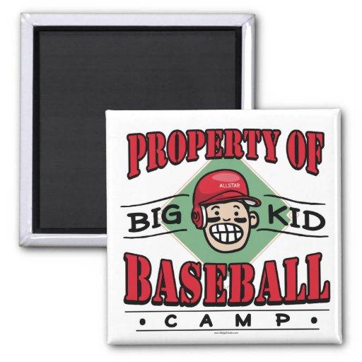 Big Kid Baseball Camp Red Helmet Refrigerator Magnet
