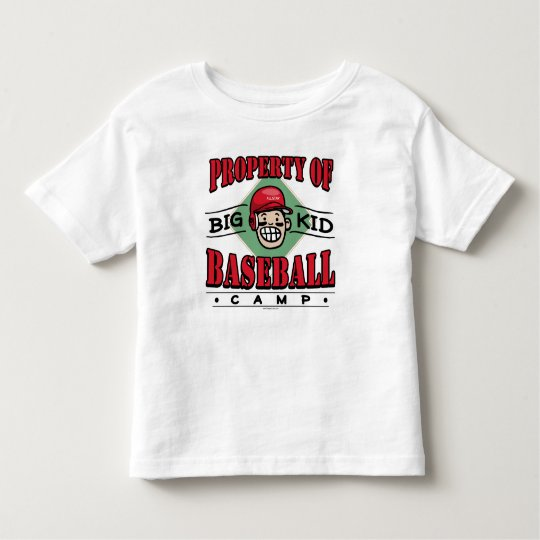 Big Kid Baseball Camp Red Helmet Toddler T-shirt