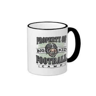 Big Kid Football Black Helmet Mugs