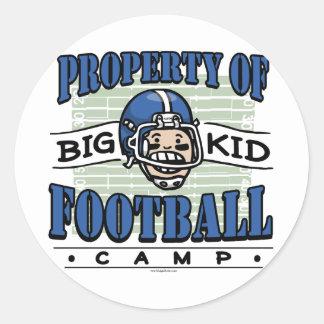 Big Kid Football Camp Round Sticker