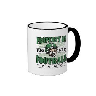 Big Kid Football Green Helmet Mug