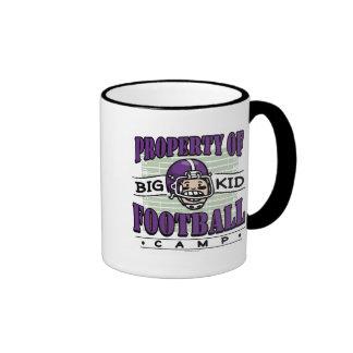 Big Kid Football Purple Helmet Coffee Mug