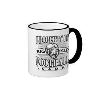 Big Kid Football White Helmet Coffee Mug