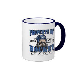 Big Kid Hockey Camp Blue Helmet Coffee Mugs