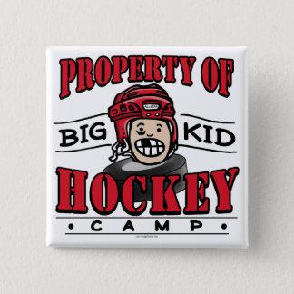 Big Kid Hockey Camp Red Helmet Pinback Button
