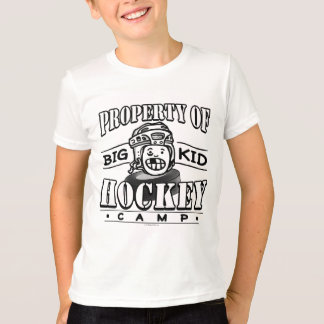 Big Kid Hockey Camp White Helmet T-Shirt