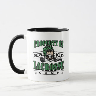 Big Kid Lacrosse Camp Green Helmet Mug
