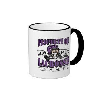 Big Kid Lacrosse Camp Purple Coffee Mugs