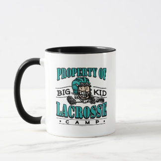 Big Kid Lacrosse Camp Teal Helmet Mug
