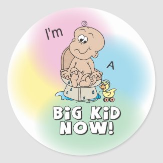Big Kid Now | Potty Training Time Classic Round Sticker