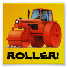 Big Kids Custom Construction Truck - Red Roller Poster