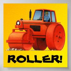 Big Kids Custom Construction Truck - Red Roller Poster