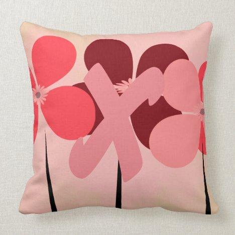 Big Kiss Add Monogram Floral Throw Pillow