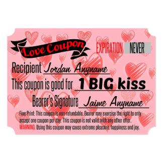 BIG KISS Love Coupon Card