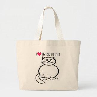 big kitteh tote bag