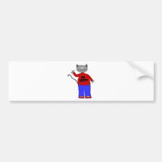 big kitty bumper sticker