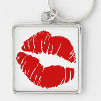 Big large lips kiss giant lips huge kissing mouth keychain