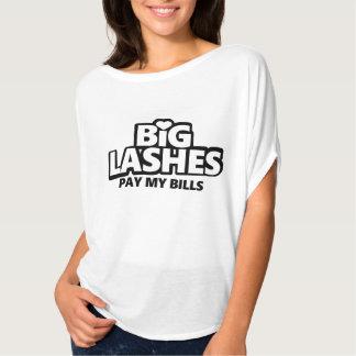 Big Lashes Pay My Bills Tshirts