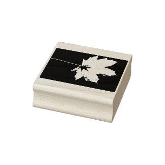 Big Leaf Little Leaf Rubber Stamp