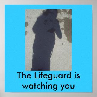 BIG Lifeguard is watching you Poster