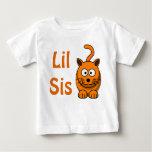 Big Lil Sister Brother Sibling Cute Orange Cat Baby T-Shirt