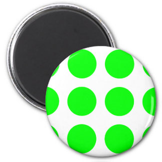 Big Lime Dots 2 Inch Round Magnet
