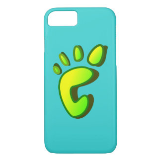 Big Lime Green Footprint iPhone 7 Case