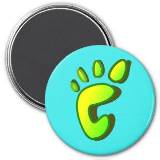 Big Lime Green Footprint Magnet