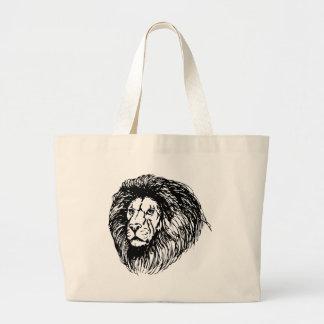Big Lion Large Tote Bag