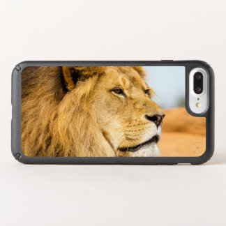 Big lion looking far away speck iPhone case