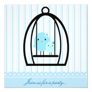 Big & Little Bluebirds Party Invitation