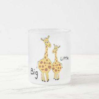 Big Little Giraffe Frosted Glass Coffee Mug