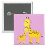 Big & Little Giraffes Pinback Buttons