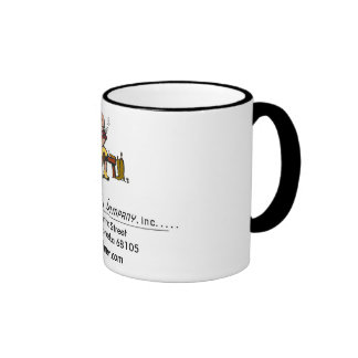 big logo, Dehner Man - 1, 3614 Martha StreetOma... Ringer Coffee Mug