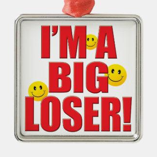 Big Loser Life Silver-Colored Square Decoration