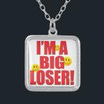 "Big Loser Life Silver Plated Necklace<br><div class=""desc"">LIFE: I&#39;M A BIG LOSER!</div>"