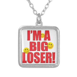 Big Loser Life Square Pendant Necklace