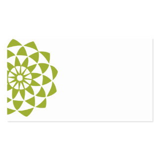 Big Lotus Flower Double-Sided Standard Business Cards (Pack Of 100)