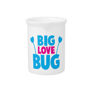 BIG Love bug with bug antennae Drink Pitcher