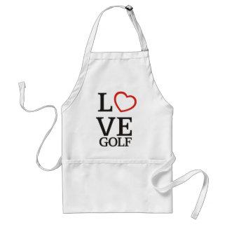 Big LOVE Golf Adult Apron