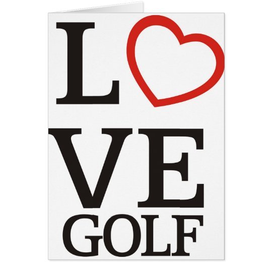 Big LOVE Golf Card