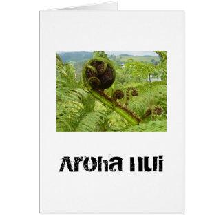Big Love Koru. Above The Canopy Greetings card. Card