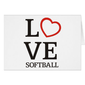 Big LOVE Softball Card