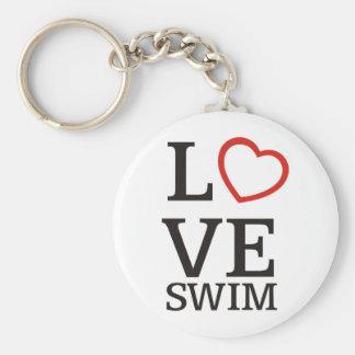 Big LOVE Swim Keychain
