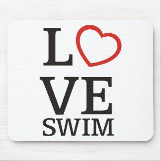 Big LOVE Swim Mouse Pad