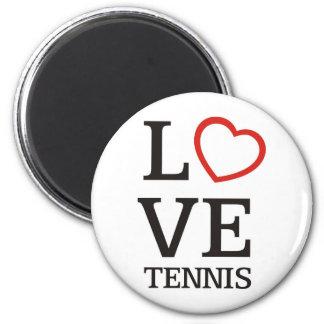 Big LOVE Tennis 2 Inch Round Magnet