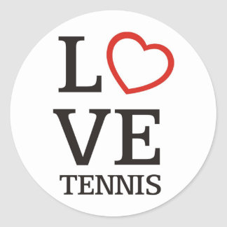 Big LOVE Tennis Stickers